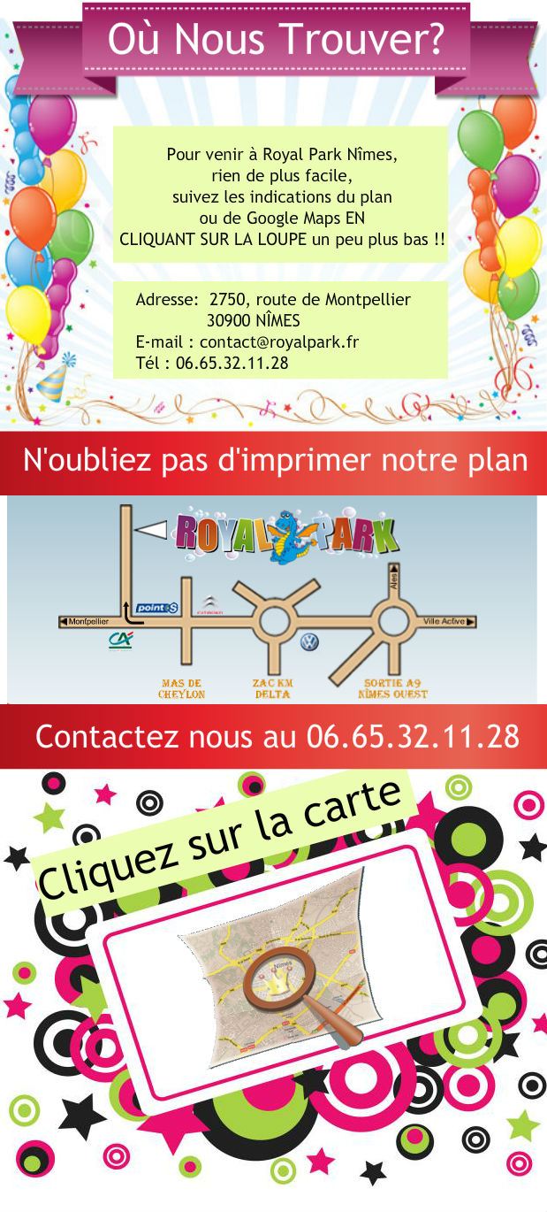 Plan de Royal Park Nimes France
